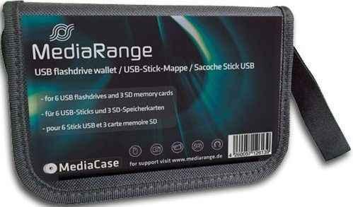 Mediarange Tasche schwarz - für 10 USB-Sticks und 5 SD-Karten