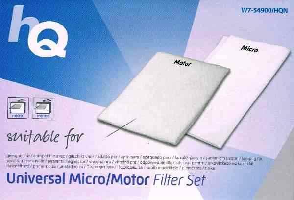 HQ Staubsaugerfilterset - Universal Mikrofilter + Motorfilter