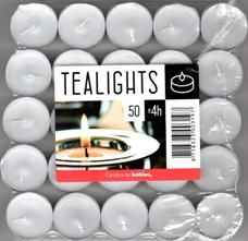Kerzen - Teelichter weiss - 50er Pack