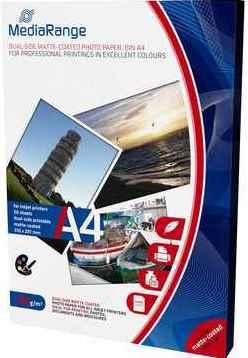 MediaRange Fotopapier DIN A4, beidseitig matt, 200 g/qm - 50 Blatt - MRINK102