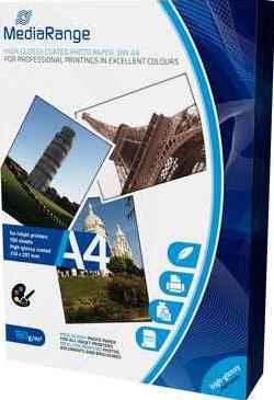 MediaRange Fotopapier DIN A4, hochglanz, 160 g/qm - 100 Blatt - MRINK105