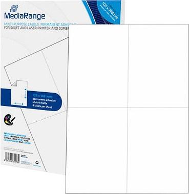 200 Laser & Inkjet Universal-Etiketten - 105,0mm x 148,0mm - matt weiss (MRINK143)