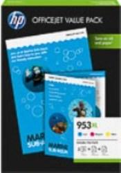 ORIGINAL HP 953XL / 1CC21AE - 3er Pack inkl. Papier & Fotopapier