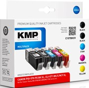 5er Pack KMP Druckerpatronen - alternativ zu Canon PGI-570 XL / CLI-571 XL - (C107BKXV)