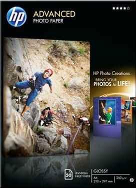 ORIGINAL HP Fotopapier Q8698A - 250 g/qm  - DIN A4 - Hochglanz - 50 Blatt