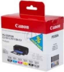 ORIGINAL Canon PGI-550+CLI-551 / 6496B005 - 6er Multipack