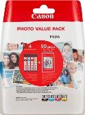 ORIGINAL Canon CLI-581 / 2106C005 - 4er Multipack + Fotopapier 10x15cm
