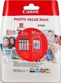 ORIGINAL Canon CLI-581XL / 2052C004 - 4er Multipack + Fotopapier 10x15cm