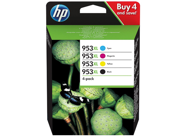 ORIGINAL HP 953XL / 3HZ52AE - 4er Pack (High Capacity)