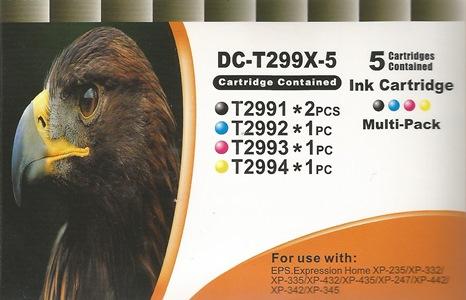 5er Pack Druckerpatronen - alternativ zu Epson 29XL